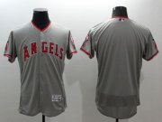 Wholesale Cheap Angels of Anaheim Blank Grey Flexbase Authentic Collection Stitched MLB Jersey