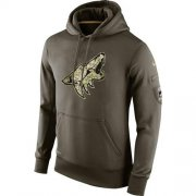 Wholesale Cheap Men's Arizona Coyotes Nike Salute To Service NHL Hoodie
