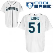 Wholesale Mariners #51 Ichiro Suzuki White Cool Base Stitched Baseball Jersey