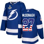 Cheap Adidas Lightning #27 Ryan McDonagh Blue Home Authentic USA Flag Youth 2020 Stanley Cup Champions Stitched NHL Jersey