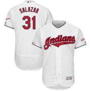 Wholesale Cheap Cleveland Indians #31 Danny Salazar Majestic Home 2019 All-Star Game Patch Flex Base Player Jersey White