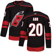 Wholesale Cheap Adidas Hurricanes #20 Sebastian Aho Black Alternate Authentic Stitched Youth NHL Jersey