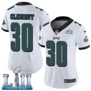 Wholesale Cheap Nike Eagles #30 Corey Clement White Super Bowl LII Women's Stitched NFL Vapor Untouchable Limited Jersey