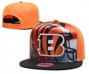 Wholesale Cheap Bengals Team Logo Yellow Black Adjustable Leather Hat TX
