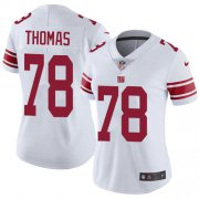 Wholesale Cheap Nike Giants #78 Andrew Thomas White Women's Stitched NFL Vapor Untouchable Limited Jersey