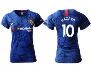 Wholesale Cheap Women's Chelsea #10 Hazard Home Soccer Club Jersey