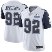 Wholesale Cheap Nike Cowboys #92 Dorance Armstrong White Men's Stitched With Established In 1960 Patch NFL Limited Rush Jersey