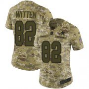 Wholesale Cheap Nike Cowboys #82 Jason Witten Camo Women's Stitched NFL Limited 2018 Salute to Service Jersey