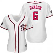 Wholesale Cheap Nationals #6 Anthony Rendon White Home 2019 World Series Champions Women's Stitched MLB Jersey