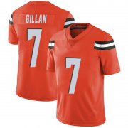 Wholesale Cheap Men's Cleveland Browns #7 Jamie Gillan Orange Limited Alternate Vapor Untouchable Nike Jersey