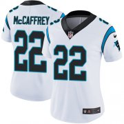 Wholesale Cheap Nike Panthers #22 Christian McCaffrey White Women's Stitched NFL Vapor Untouchable Limited Jersey