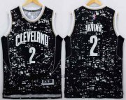 Wholesale Cheap Men's Cleveland Cavaliers #2 Kyrie Irving Adidas 2015 Urban Luminous Swingman Jersey