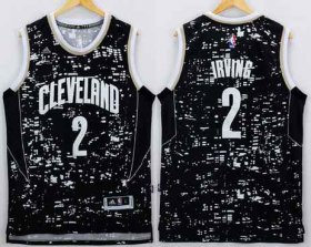 Wholesale Cheap Men\'s Cleveland Cavaliers #2 Kyrie Irving Adidas 2015 Urban Luminous Swingman Jersey