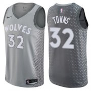 Wholesale Cheap Nike Minnesota Timberwolves #32 Karl-Anthony Towns Gray NBA Swingman City Edition Jersey