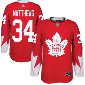 Wholesale Cheap Adidas Maple Leafs #34 Auston Matthews Red Team Canada Authentic Stitched Youth NHL Jersey