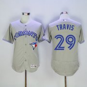 Wholesale Cheap Blue Jays #29 Devon Travis Grey Flexbase Authentic Collection Stitched MLB Jersey