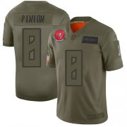 Wholesale Cheap Nike Buccaneers #8 Bradley Pinion Camo Men's Stitched NFL Limited 2019 Salute To Service Jersey