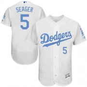 Wholesale Cheap Dodgers #5 Corey Seager White Flexbase Authentic Collection Father's Day Stitched MLB Jersey