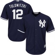 Wholesale Cheap Yankees #12 Troy Tulowitzki Navy blue Cool Base Stitched Youth MLB Jersey