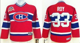 Wholesale Cheap Canadiens #33 Patrick Roy Red CCM Throwback Stitched Youth NHL Jersey