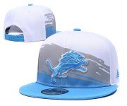 Wholesale Cheap Lions Team Logo White Blue Adjustable Hat GS