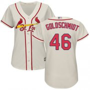 Wholesale Cheap Cardinals #46 Paul Goldschmidt Cream Alternate Women's Stitched MLB Jersey