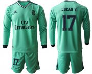 Wholesale Cheap Real Madrid #17 Lucas V. Third Long Sleeves Soccer Club Jersey