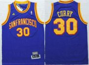 Wholesale Cheap Men's San Francisco Warriors #30 Stephen Curry San Francisco Blue Hardwood Classics Soul Swingman Throwback Jersey