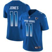 Wholesale Cheap Nike Falcons #11 Julio Jones Royal Men's Stitched NFL Limited NFC 2018 Pro Bowl Jersey