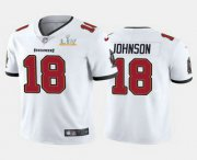 Wholesale Cheap Men's Tampa Bay Buccaneers #18 Tyler Johnson White 2021 Super Bowl LV Limited Stitched NFL Jersey