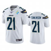 Wholesale Cheap Los Angeles Chargers #21 Ladainian Tomlinson White 60th Anniversary Vapor Limited NFL Jersey