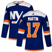 Wholesale Cheap Adidas Islanders #17 Matt Martin Blue Authentic Alternate Stitched NHL Jersey