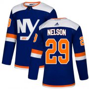 Wholesale Cheap Adidas Islanders #29 Brock Nelson Blue Alternate Authentic Stitched NHL Jersey