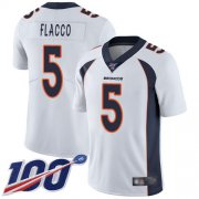 Wholesale Cheap Nike Broncos #5 Joe Flacco White Youth Stitched NFL 100th Season Vapor Limited Jersey