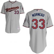 Wholesale Twins #33 Justin Morneau Grey Stitched Youth Baseball Jersey