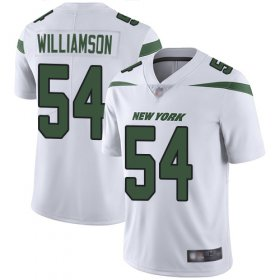 Wholesale Cheap Nike Jets #54 Avery Williamson White Men\'s Stitched NFL Vapor Untouchable Limited Jersey