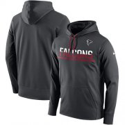 Wholesale Cheap Men's Atlanta Falcons Nike Anthracite Sideline Circuit Pullover Performance Hoodie