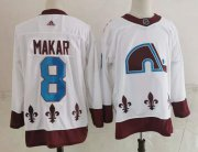 Wholesale Cheap Men's Colorado Avalanche #8 Cale Makar White 2021 Retro Stitched NHL Jersey