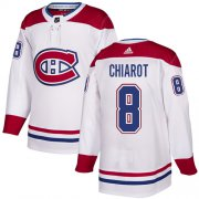 Wholesale Cheap Adidas Canadiens #8 Ben Chiarot White Road Authentic Stitched Youth NHL Jersey