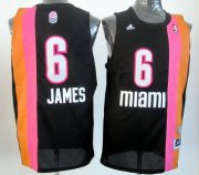 Wholesale Cheap Miami Floridians #6 LeBron James ABA Hardwood Classic Swingman Black No Holes Jersey