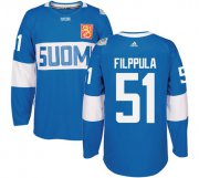 Wholesale Cheap Team Finland #51 Valtteri Filppula Blue 2016 World Cup Stitched NHL Jersey