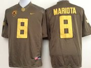 Wholesale Cheap Oregon Duck #8 Marcus Mariota 2014 Brown Limited Jersey
