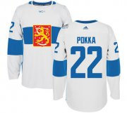 Wholesale Cheap Team Finland #22 Ville Pokka White 2016 World Cup Stitched NHL Jersey