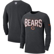Wholesale Cheap Chicago Bears Nike Sideline Property Of Performance Long Sleeve T-Shirt Heathered Charcoal