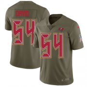 Wholesale Cheap Nike Buccaneers #54 Lavonte David Olive Youth Stitched NFL Limited 2017 Salute to Service Jersey