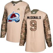 Wholesale Cheap Adidas Avalanche #9 Lanny McDonald Camo Authentic 2017 Veterans Day Stitched Youth NHL Jersey
