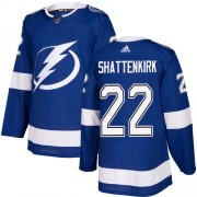 Cheap Adidas Lightning #22 Kevin Shattenkirk Blue Home Authentic Stitched NHL Jersey