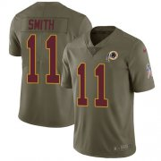 Wholesale Cheap Nike Redskins #11 Alex Smith Olive Youth Stitched NFL Limited 2017 Salute to Service Jersey