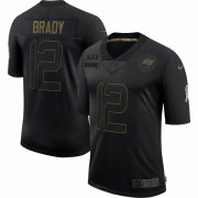 Cheap Tampa Bay Buccaneers #12 Tom Brady Nike 2020 Salute To Service Limited Jersey Black