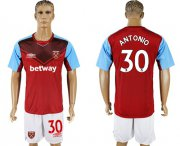 Wholesale Cheap West Ham United #30 Antonio Home Soccer Club Jersey